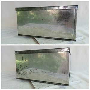 Vintage Accents - Antique French Biscuit Tin Jewelry Box Home Decor